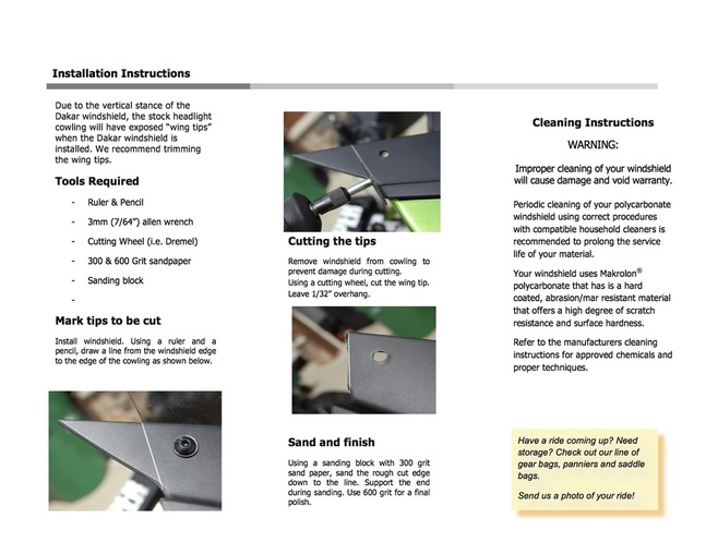 Bajaworx Dakar Windshield Installation Instructions